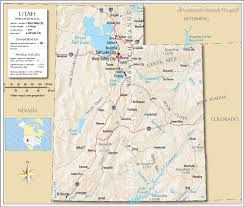 Colorado River On A Map by Reference Map Of Utah Usa Nations Online Project