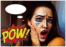 halloween makeup pop art style