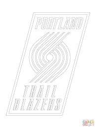 portland trail blazers logo coloring page free printable