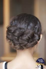 cute hairstyles pull through braid curly hairstyle of the week pull through braided updo tutorial