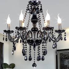 Candle Holder Chandeliers Modern Chandelier Black On Glass Metal Shade Interesting
