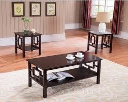 amazon com 3 pc kings brand cherry finish wood coffee table u0026 2