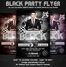black party club flyer template u2039 psdbucket com