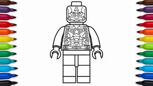 how to draw lego captain america marvel superheroes coloring