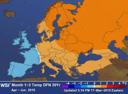 European Weather Map by Seasonal U0026 Subseasonal Forecasts The Weather Company