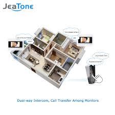 Front Door Monitor Camera by Video Doorbell Monitor U0026 Aliexpress Com Buy Jeatone New 7 Inch