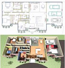 perfect ranch house blueprints 3d landscaping house design and image of ranch house blueprints style