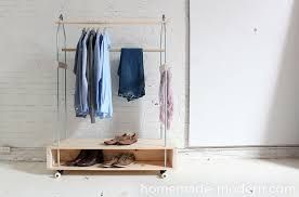 diy clothing storage modern ep31 garment rack