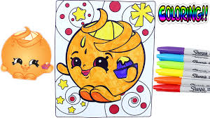 shopkins crayola coloring pages juicy orange awesome toys tv