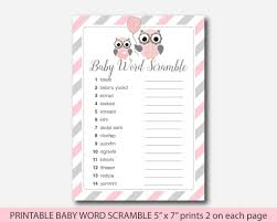 baby shower owls baby shower owl word scramble owl baby shower word