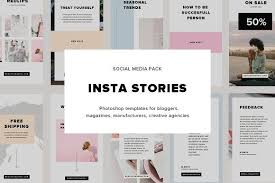 instagram layout vector illustrator insta stories social media pack by sowwwa on creativemarket