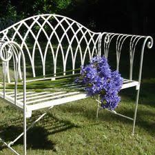 Cream Garden Bench Metal Garden Bench Ebay