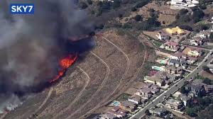 Six Flags Magic Mountain Fire Residents Evacuated After Fire Threatens Homes In Oakland Hills