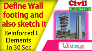 define wall footing and also sketch it reinforced concrete