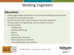 welding career opportunities experiential learning technology