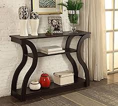Entryway Accent Table Cappuccino Finish Console Sofa Entryway Accent
