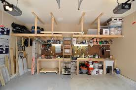 Ideas For Workbench With Drawers Design Garage Ceiling Storage Ideas Theringojets Storage