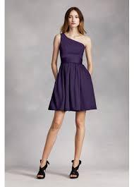 short one shoulder dress with satin sash vw361260 fancy wedding