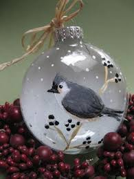 painted ornament glass gorgeous brown