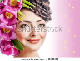 flower hair woman beauty summer model girl stock photo 604256474