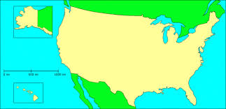 america map no borders colour based map of us regions including sub regions maps gulf