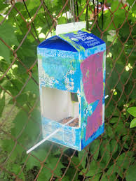recycled milk carton bird feeders amanda medlin