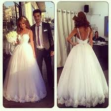 wedding dresses without straps russia style spaghetti straps pearls floor length no civil