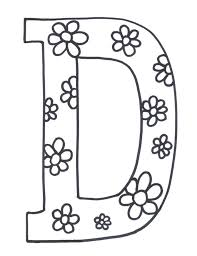 flowerish d printable alphabet coloring pages alphabet coloring