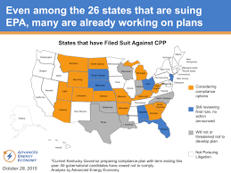 Cpp Map The Legal Battle Is Joined On The Clean Power Plan And Aee Is In
