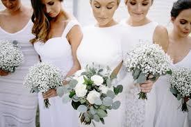 baby s breath bouquet eucalyptus bouquet baby s breathe bouquet white bridesmaid
