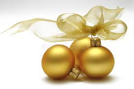 gold baubles stock image image of yellow yule 3412521