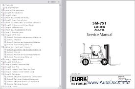 clark wp45 forklift service repair workshop manual download