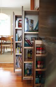 Kitchen Cabinets With Pull Out Shelves Kitchen Broken White Polished Wooden Kitchen Cabinet With