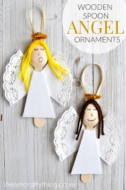 wooden spoon angel christmas ornaments i heart crafty things