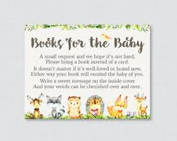 bring a book instead of a card baby shower woodland baby shower bring a book instead of a card invitation