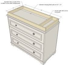 Changing Table Or Dresser White Build A Fillman Dresser Or Changing Table Free And