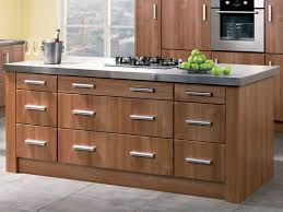 Stainless Steel Knobs For Kitchen Cabinets Walnut Kitchen Cabinets In The Island With Modern Knobs And