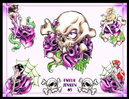 skull tattoo flash sheets pictures to pin on pinterest tattooskid