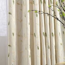 rideaux cuisine design high quality linen leaves embroidered bedroom living room curtains