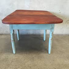Drop Leaf End Table Hand Painted Distressed Drop Leaf End Table U2013 Urbanamericana