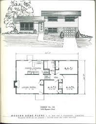 split level homes floor plans modern home plans vintage house plans1950s pinterest floor plan