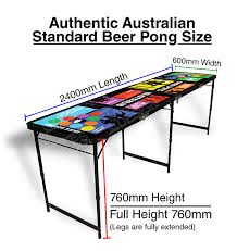 beer pong table length tables by design