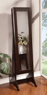 Full Length Mirror Jewelry Storage Armoire With Mirror Black Wooden Jewelry Box Vintage Armoire With