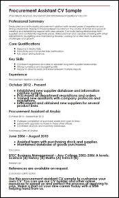 procurement resume procurement assistant cv sle myperfectcv