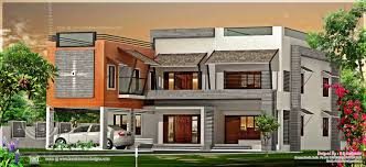luxury flat roof house in kannur kerala indian house plans
