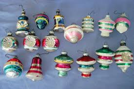 vintage tree glass ornament lot shiny bright germany