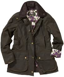 womens barbour liberty beadnell waxed jacket olive purple rose