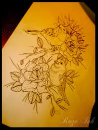 birds key n rose tattoo design real photo pictures images and