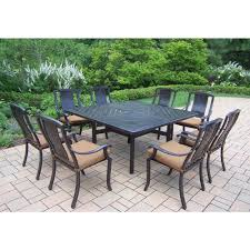 lennox 9 piece wood outdoor dining set with cooler inserts 89398