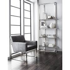 sunpan 10271 dalton bookcase in distressed grey oak veneer on